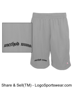 Method Arched Text on Mesh Shorts Design Zoom