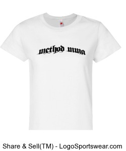 Method Arched Text on Ladies Light Shirts Design Zoom