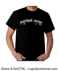 Arched Method Text on Dark Shirts Design Zoom