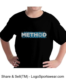 Method Cage on Youth Dark Shirts Design Zoom